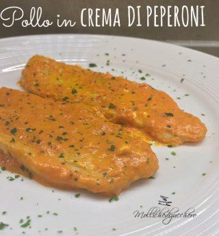 pollo con crema di peperoni