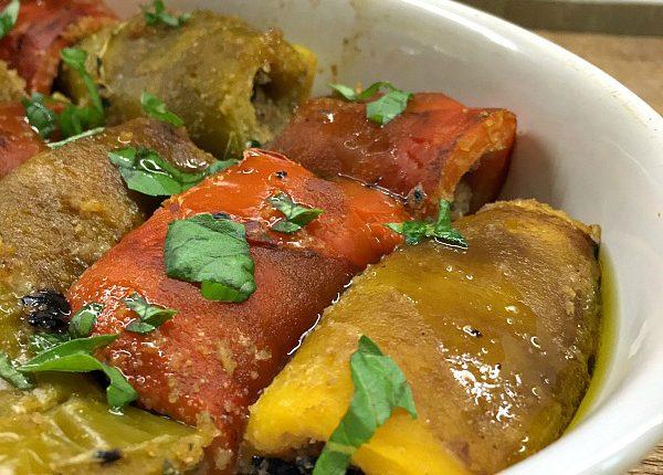 involtini di peperoni con mollica