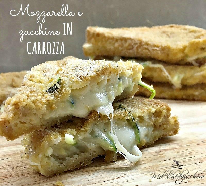 mozzarella e zucchine in carrozza