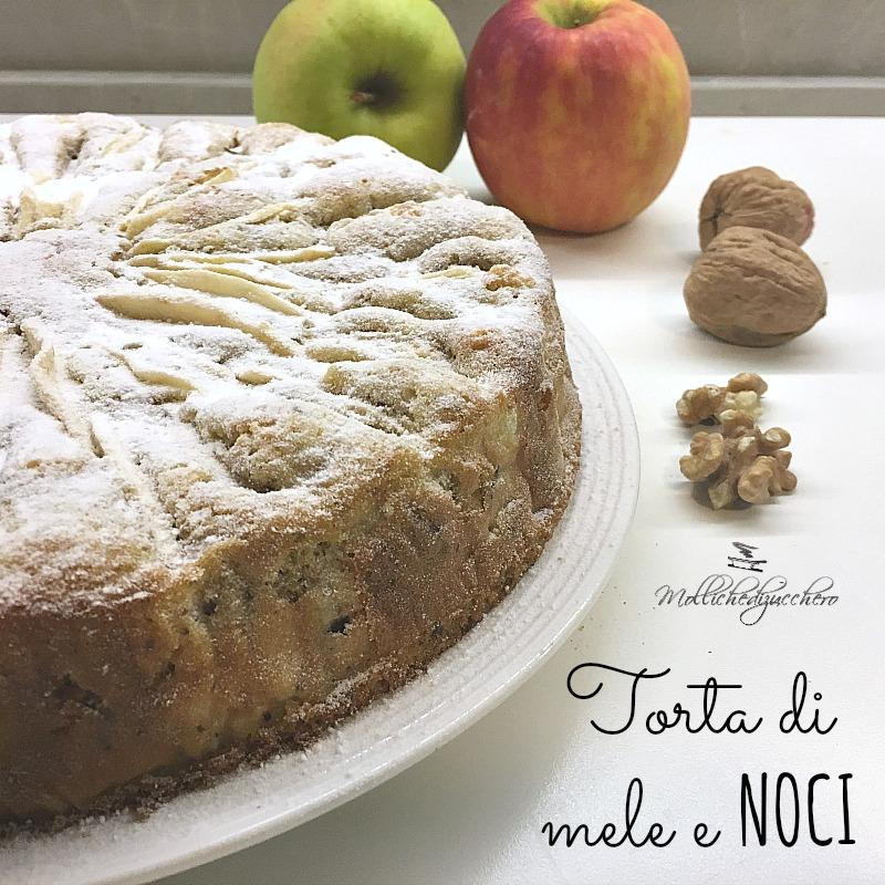 Torta di mele e noci - ricetta facile - Mollichedizucchero