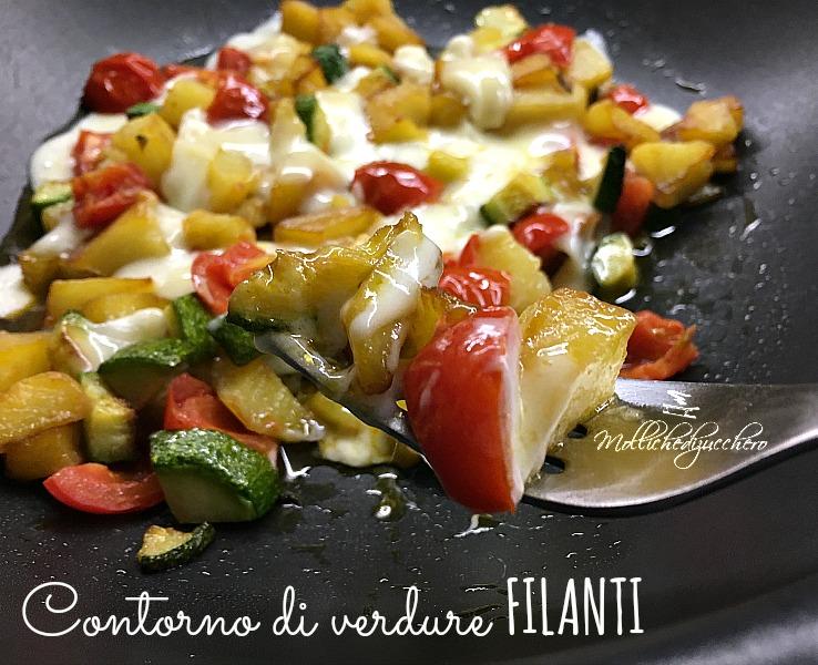 Contorno di verdure filanti ricetta saporita