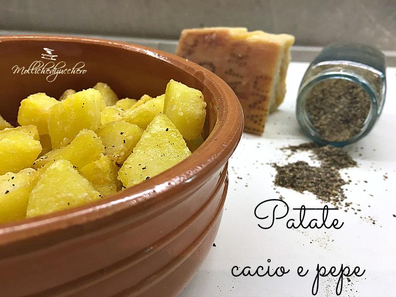 patate croccanti cacio e pepe