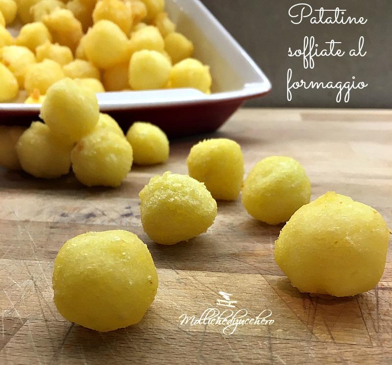 patatine soffiate al formaggio
