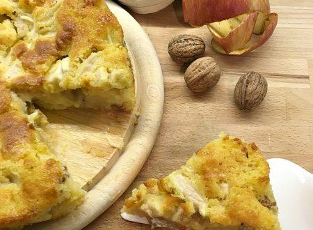 Torta cremosa mele e noci ricetta facile