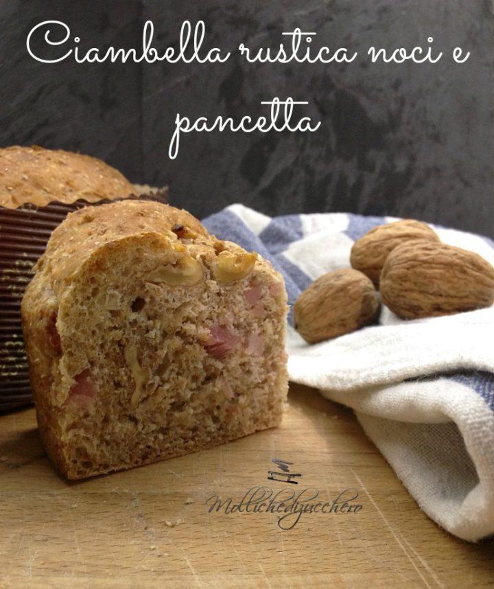 Ciambella Rustica Noci e Pancetta Ricetta Facile