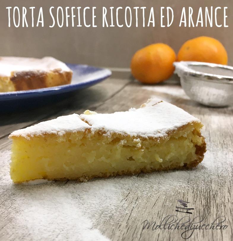 torta soffice ricotta ed arance