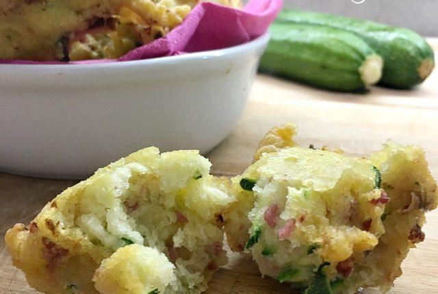 frittelle di zucchine e salame