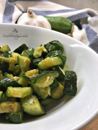 zucchine veloci in padella