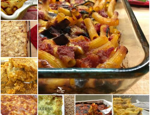 Raccolta di primi piatti al forno