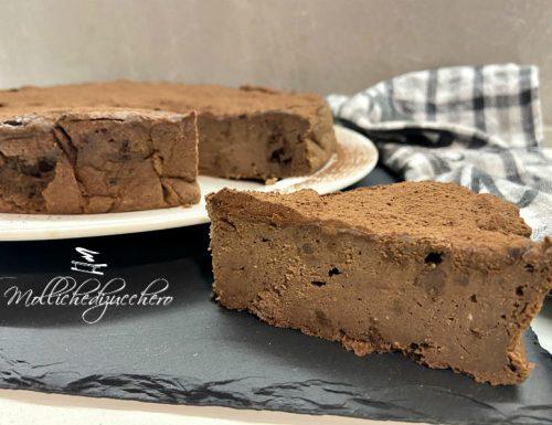 Torta ricotta e cioccolato dolce cremoso