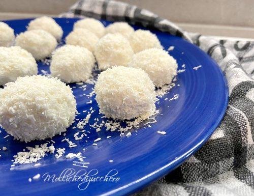 Bonbon al cocco ricetta veloce senza cottura