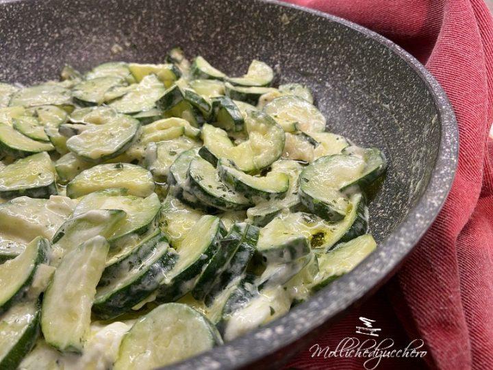 zucchine cremose in padella