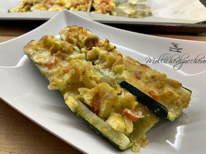 zucchine ripiene al forno