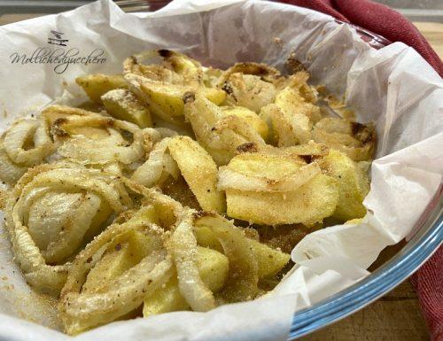 Patate e cipolle al forno ricetta saporita