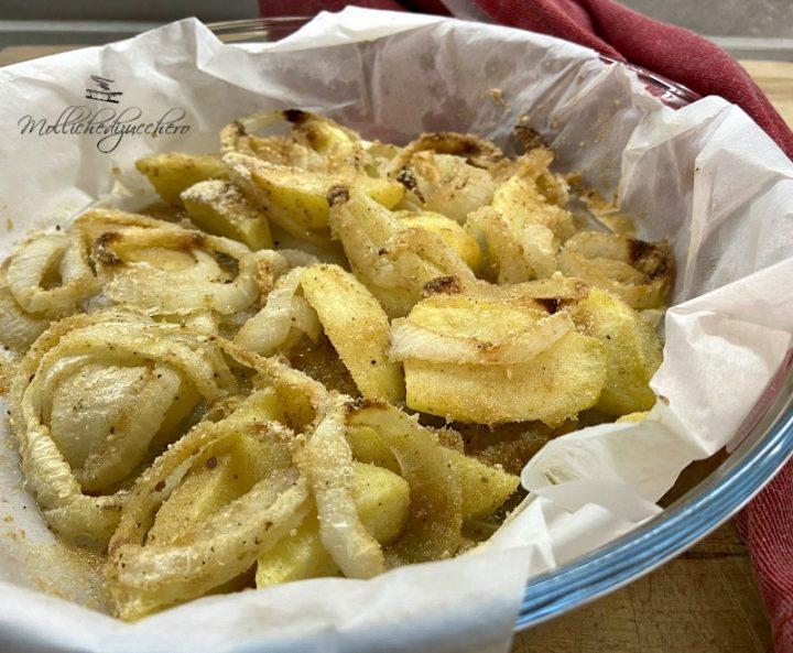patate e cipolle al forno