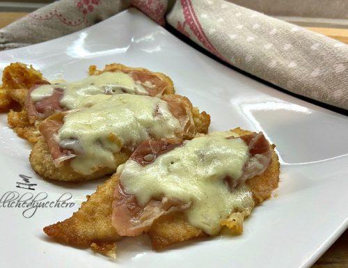Pollo filante con prosciutto e formaggio