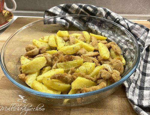 Pollo al forno con le patate ricetta saporita