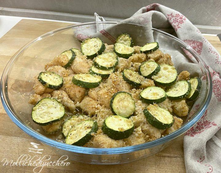 pollo al forno con zucchine