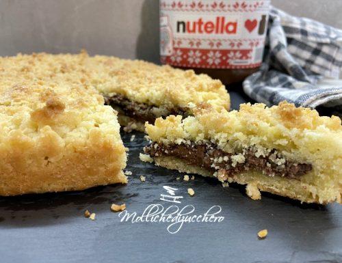 Torta sbriciolata alla Nutella ricetta facile