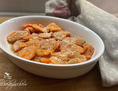 Carote gratinate al forno ricetta veloce