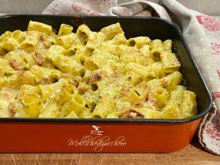 pasta al forno con pistacchi
