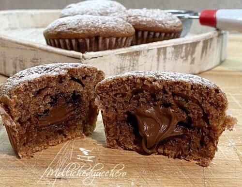 Muffins al cacao con Nutella ricetta golosa