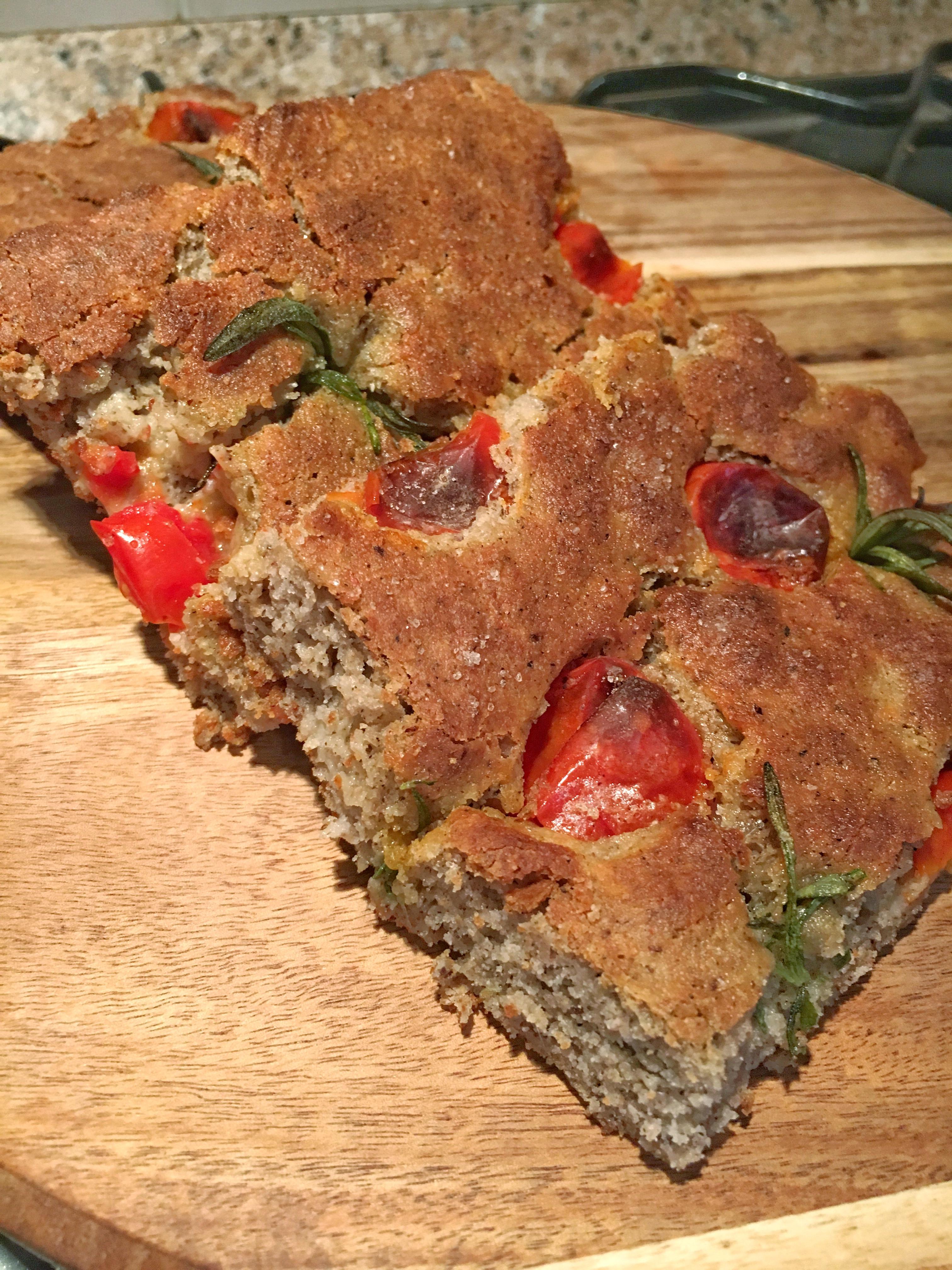 Focacciaintegralesenzaglutineconpomodorini monikacleanfood - Apericena cosa cucinare ...