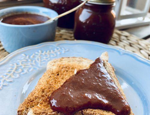Marmellata di prugne e cioccolato fondente