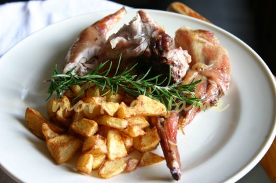 Coniglio arrosto dietetico