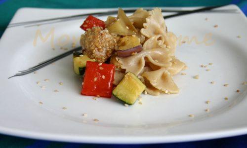 Pasta tonno fresco e verdure, ricetta light e veloce