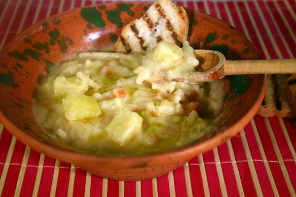 zuppa i fave e patate morti di fame