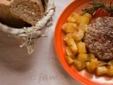 hamburger al forno parmigiano e patate morti di fame