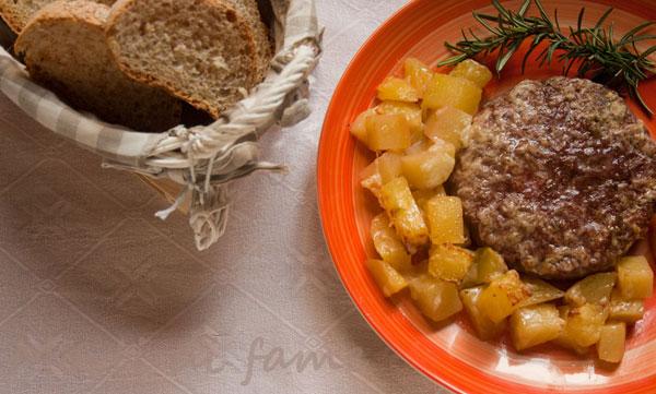 hamburger al forno parmigiano patate  morti di fame