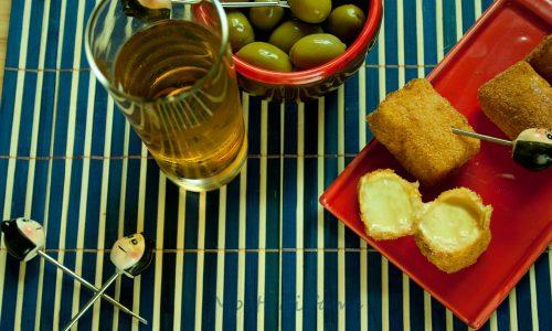 Brie-vido caldo, brie croccante, ricetta aperitivo
