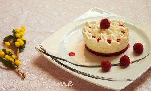 Mousse di zabaione con gelèe di lamponi, UnLampoNelCuore