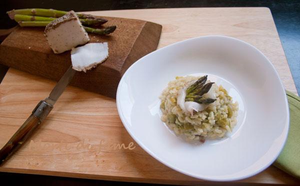 risotto con asparagi morti di fame