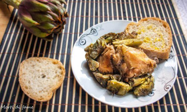 Pollo ai carciofi, ricetta facile