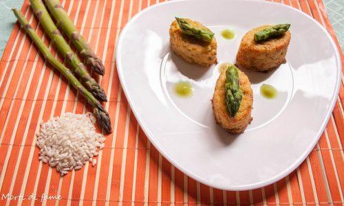 Tortini di riso con asparagi, ricetta riciclo