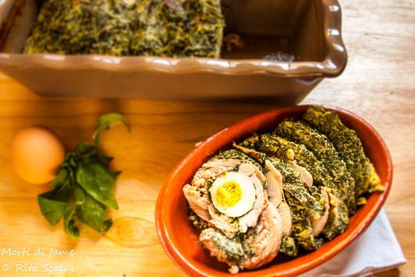 sformato di pollo con ricotta e spinaci morti di fame
