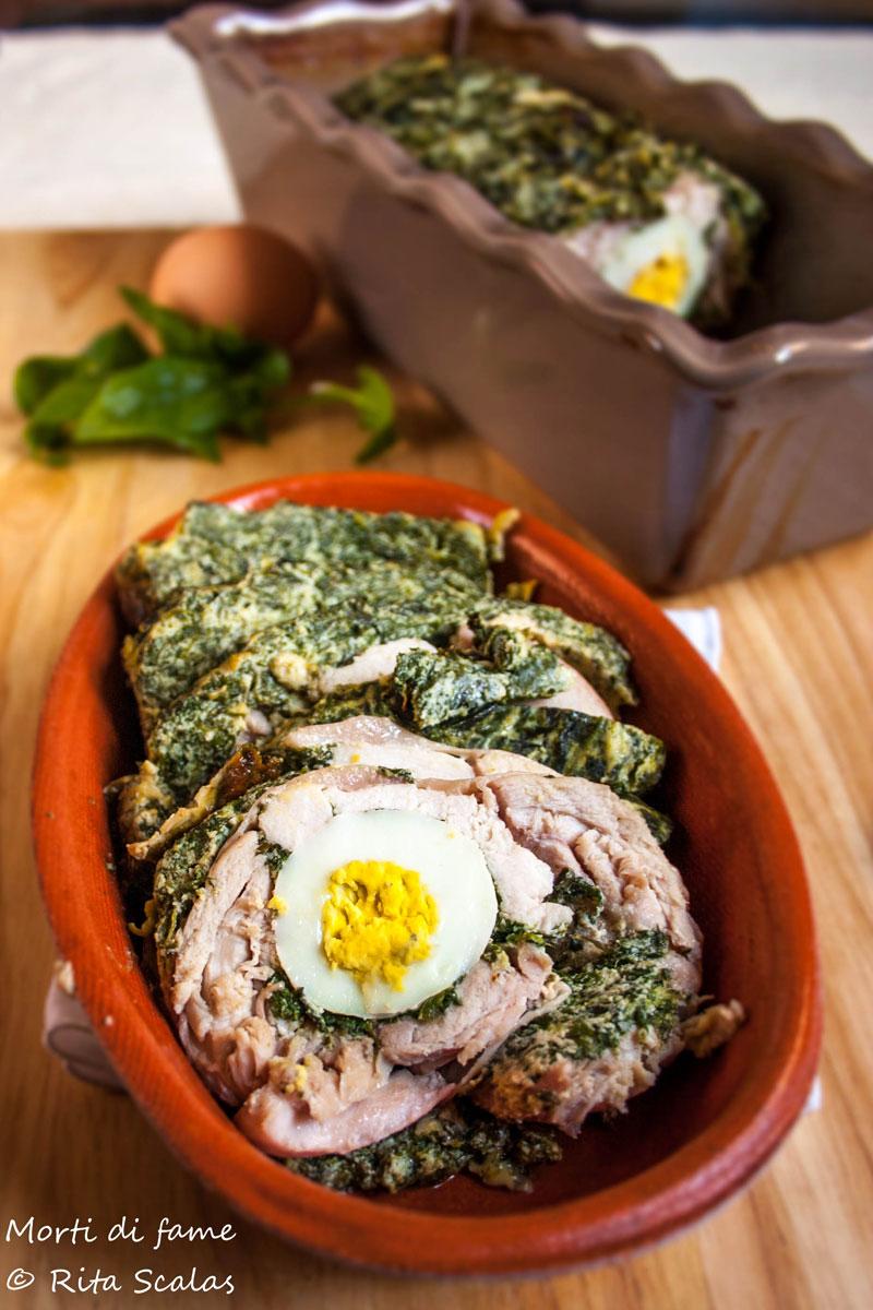 rollè di pollo ricotta e spinaci morti di fame
