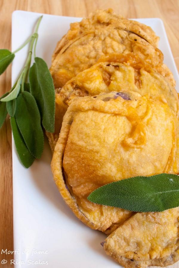 melanzane fritte in pastella morti di fame