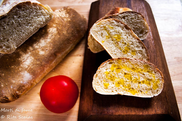 pane con lievito madre e semola morti di fame