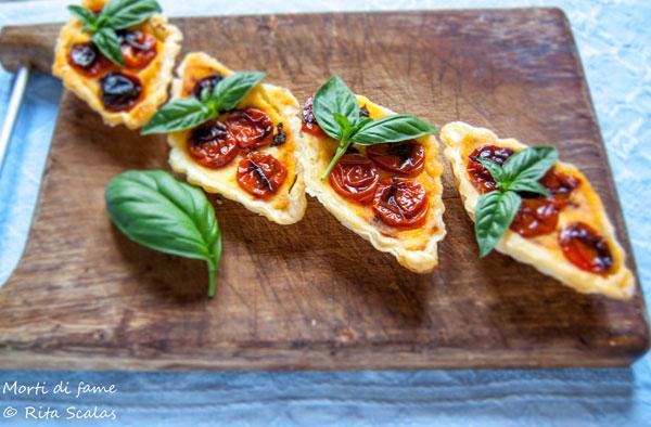mini quiche ai pomodorini confit morti di fame