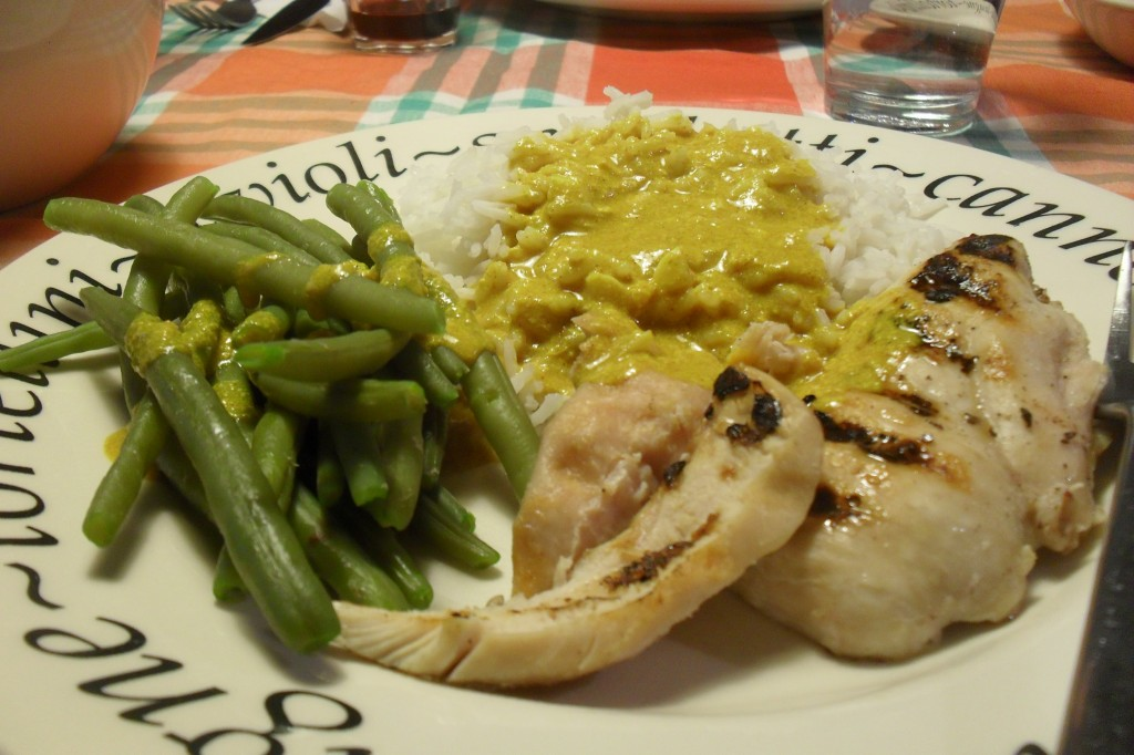 Pollo e riso in salsa speziata, diario di una dieta - Giorno 1, Mangia senza Pancia