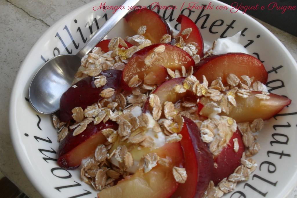 Fiocchi di avena yogurt e Prugne, diario di una dieta - Giorno 409, Mangia senza Pancia
