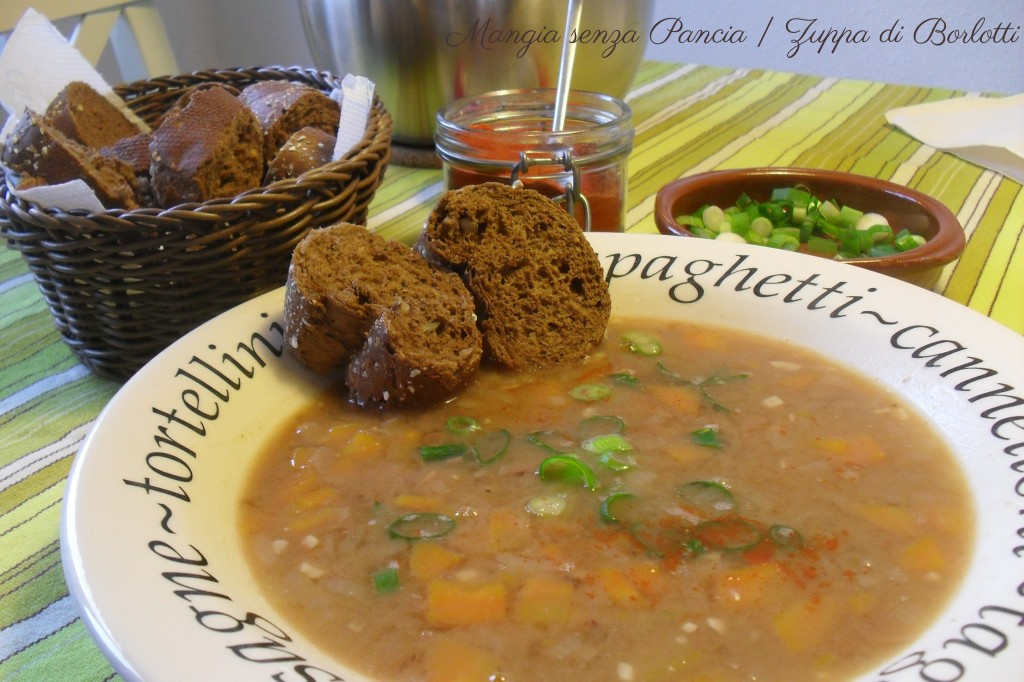 Zuppa di Borlotti, diario di una dieta - Giorno 449, Mangia senza Pancia