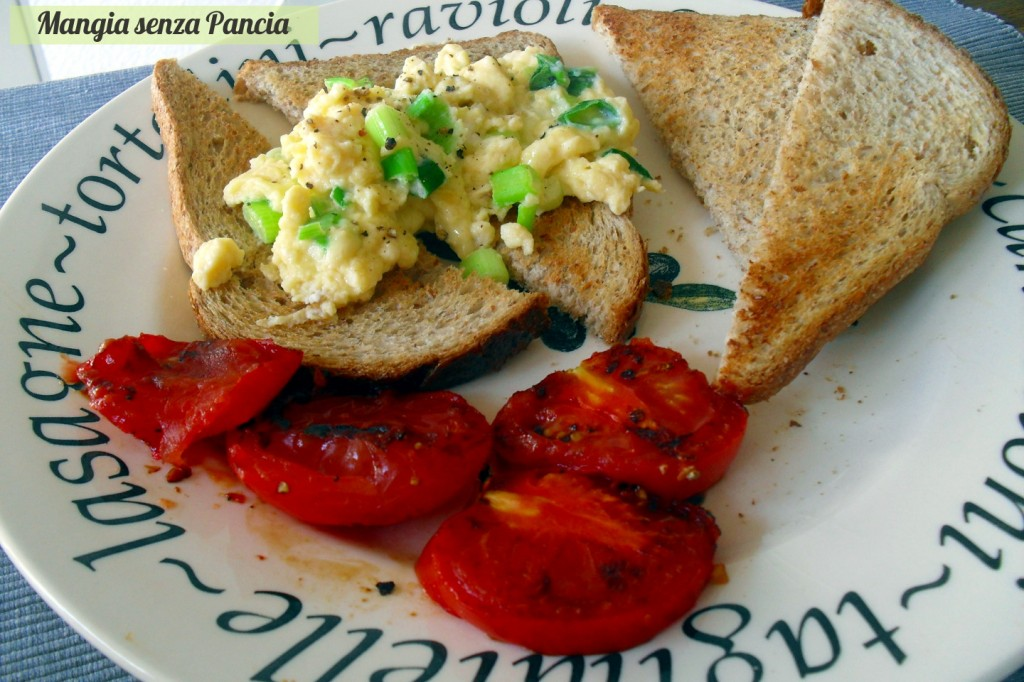 Scrambled Eggs on Toast, uova strapazzate, Mangia senza Pancia