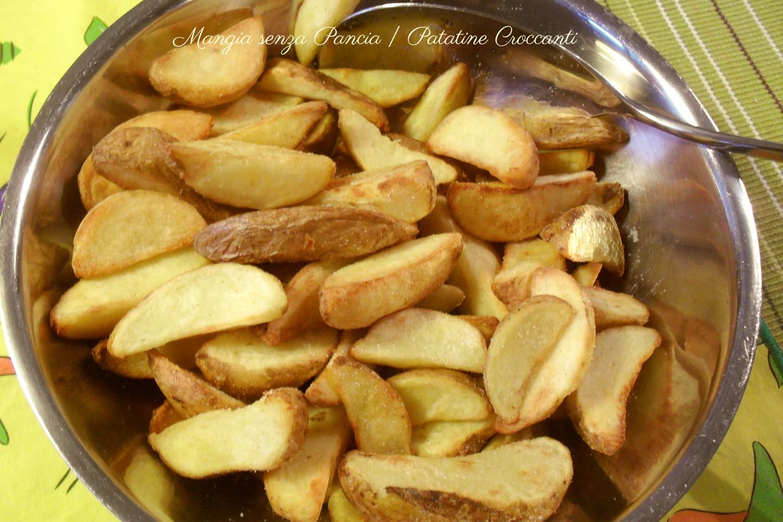 patatine croccanti al forno mangia senza pancia