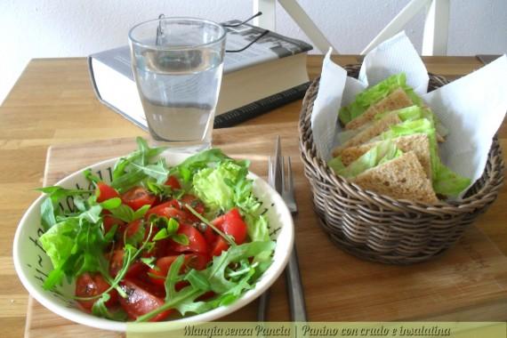 Panino con crudo e insalatina, ricetta veloce, oltre la dieta: il diario - 10 marzo 2014, Mangia senza Pancia