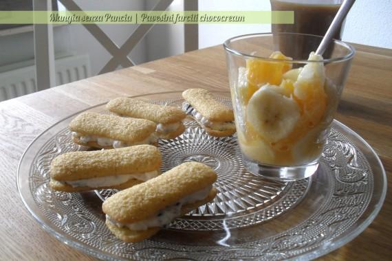 Pavesini farciti chococream, ricetta leggera, Mangia senza Pancia